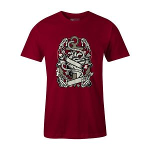 Heart and Anchor T Shirt Cardinal