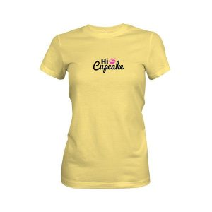 Hi Cupcake T Shirt Banana Cream