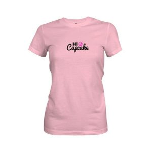 Hi Cupcake T Shirt Light Pink
