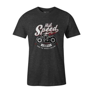 High Speed Thrills T shirt heather charcoal