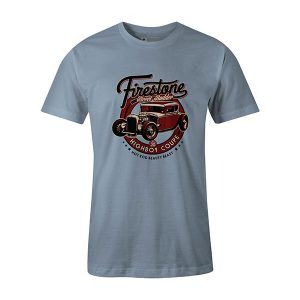 Highboy Coupe Hot Rod T shirt baby blue
