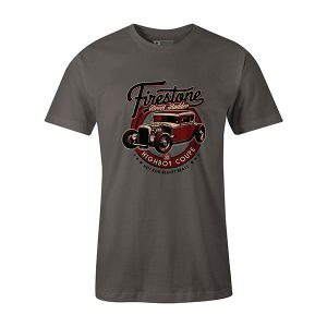 Highboy Coupe Hot Rod T shirt charcoal