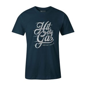 Hit The Gas T shirt indigo