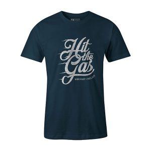 Hit The Gas T shirt indigo