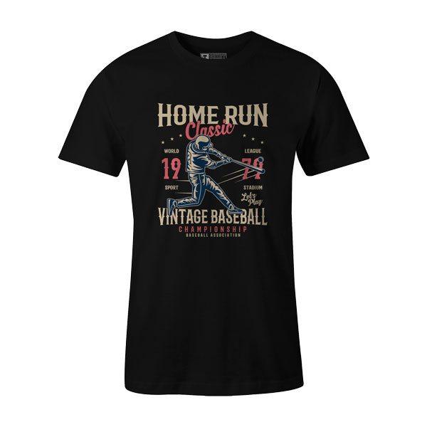 Home Run Classic T Shirt Black1