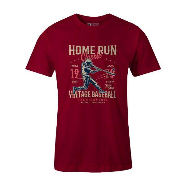 Home Run Classic T Shirt Cardinal1