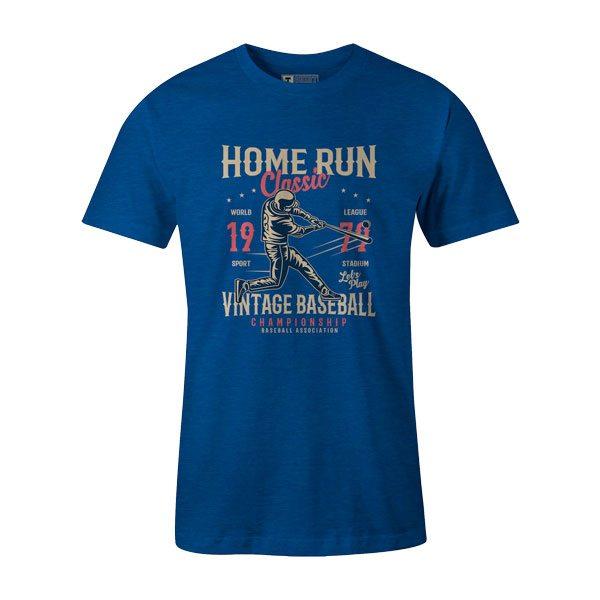 Home Run Classic T Shirt Heather Royal1