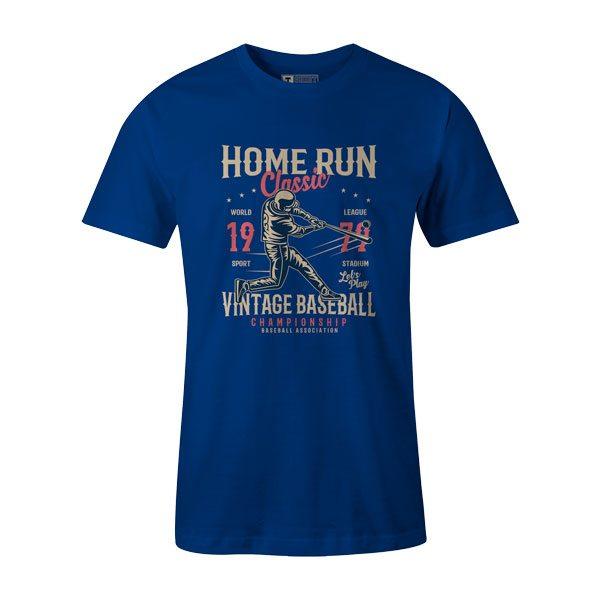 Home Run Classic T Shirt Royal1