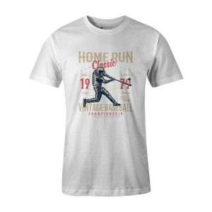 Home Run Classic T Shirt White1