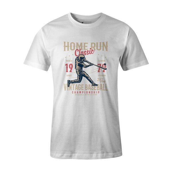 Home Run Classic T Shirt White1