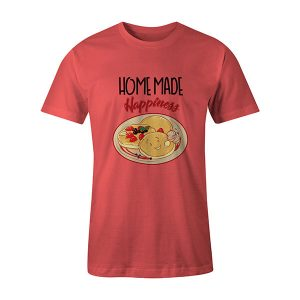 Home Made Happiness T shirt coral