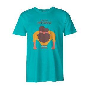 Homo Hipstericus T Shirt Aqua