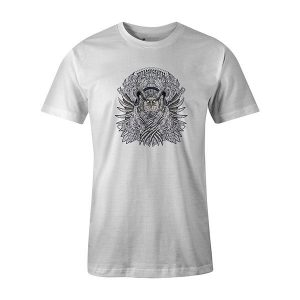 Horned Owl T shirt white