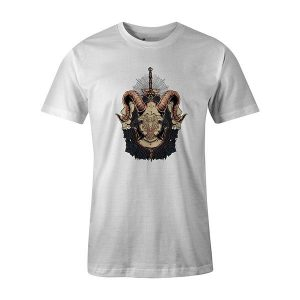 Horned Shield T shirt white