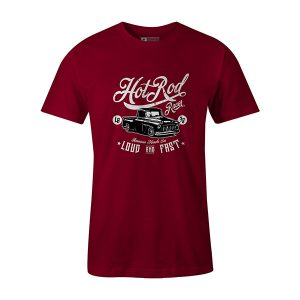 Hot Rod Racer T shirt cardinal