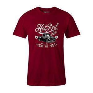 Hot Rod Racer T shirt cardinal