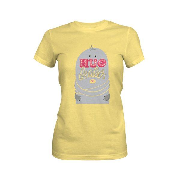 Hug Dealer T Shirt Banana Cream