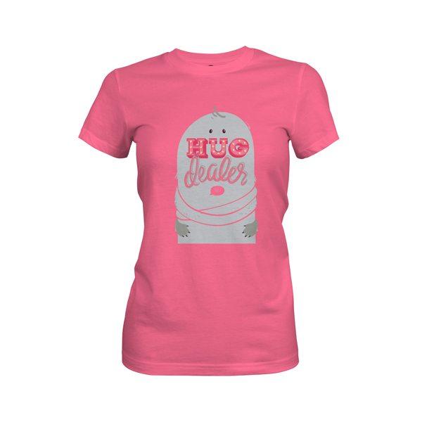 Hug Dealer T Shirt Hot Pink