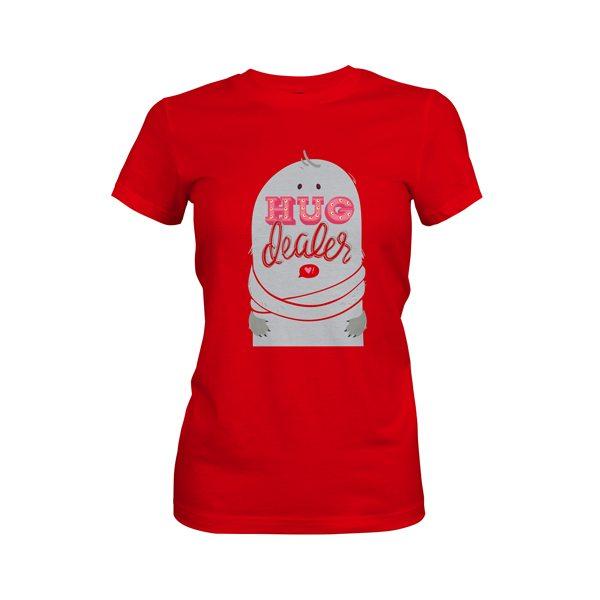 Hug Dealer T Shirt Red