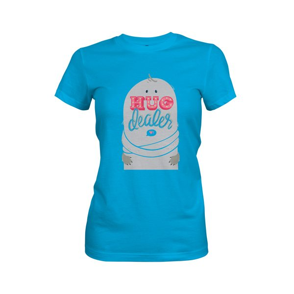 Hug Dealer T Shirt Turquoise