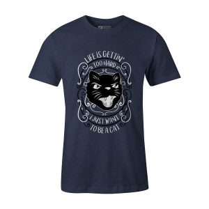 I Just Want To Be A Cat T Shirt Heather Denim