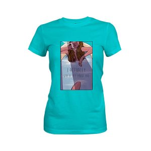 I Actually Give A Shit About You T shirt tahiti blue