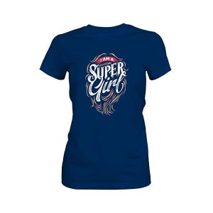 I Am A Super Girl T shirt cool blue