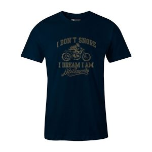 I Dont Snore T shirt navy