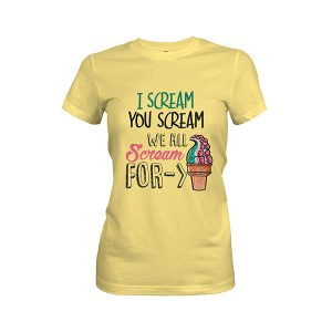 Ice Cream T shirt banana cream