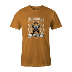 In Barbers We Trust T Shirt Ginger