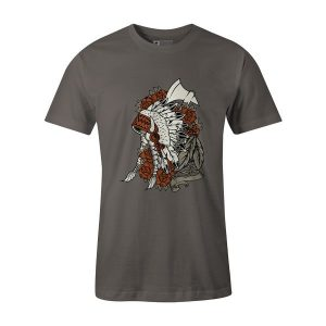 Indian T Shirt Charcoal