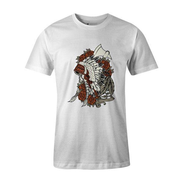 Indian T Shirt White
