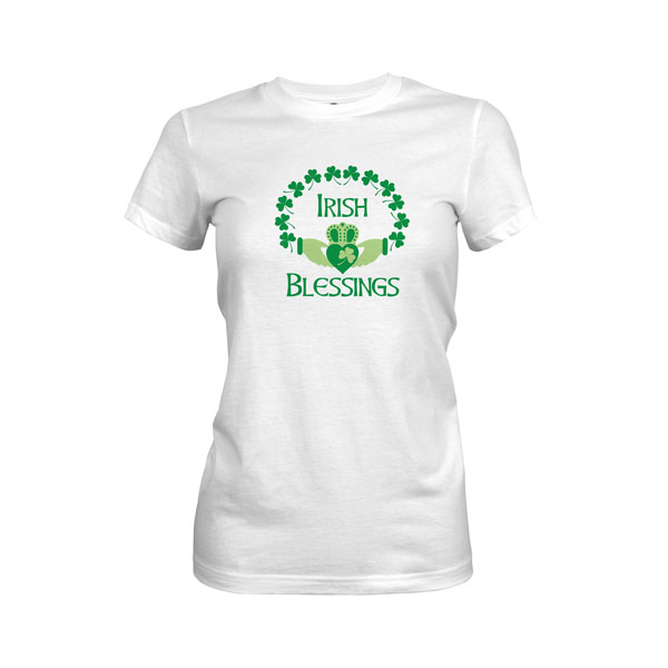 Irish Blessings T Shirt White 1