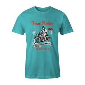 Iron Rider T Shirt Aqua