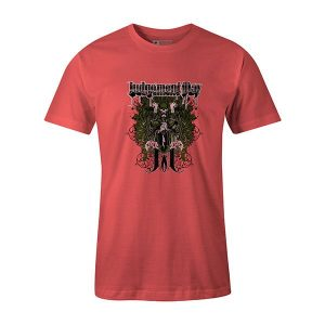 Judgement Day T shirt coral