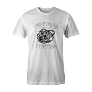 Keep Calm and Rake Photos T Shirt White