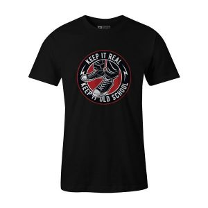 Keep It Old School T Shirt Black