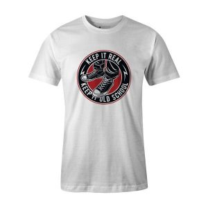 Keep It Old School T Shirt White