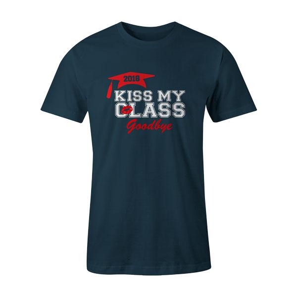Kiss My Class T Shirt Indigo