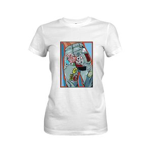 Kiss My Patch T shirt white
