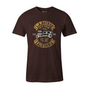 LA Hot Rod T Shirt Brown