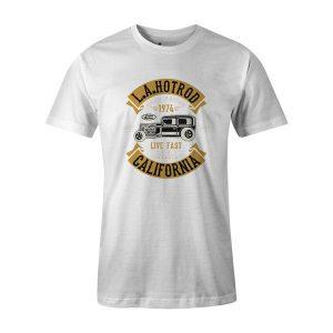 LA Hot Rod T Shirt White