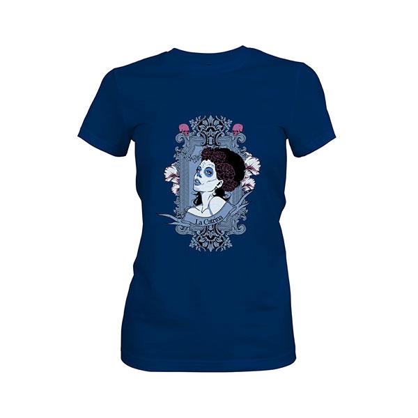 La Catrina T shirt cool blue