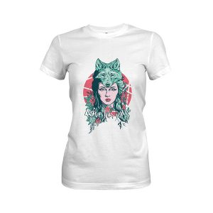 Leave Her Wild T shirt white