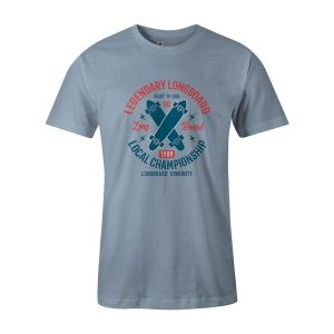 Legendary Longboard T Shirt Baby Blue