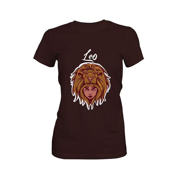 Leo T shirt dark chocolate