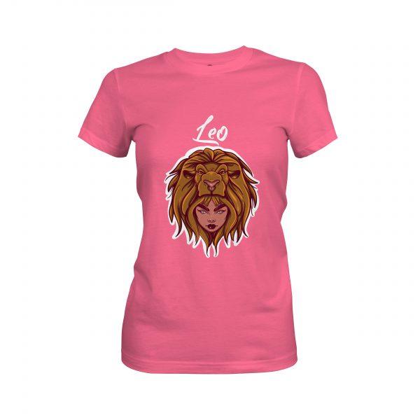 Leo T shirt hot pink