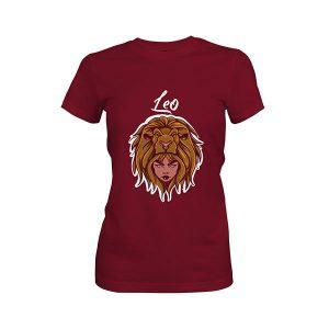 Leo T shirt maroon