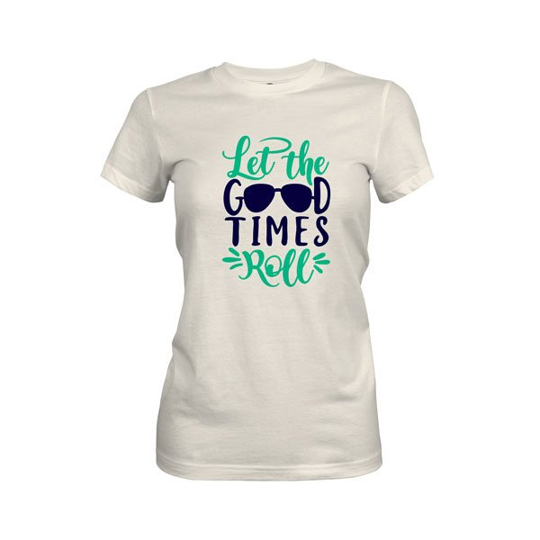 Let The Good Times Roll T Shirt Ivory