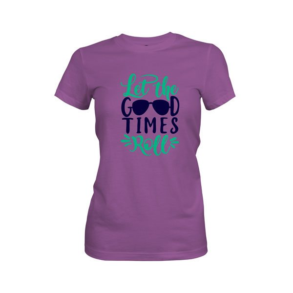 Let The Good Times Roll T Shirt Purple Berry